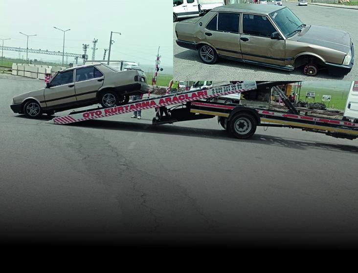 Aracın tekerleği fırladı