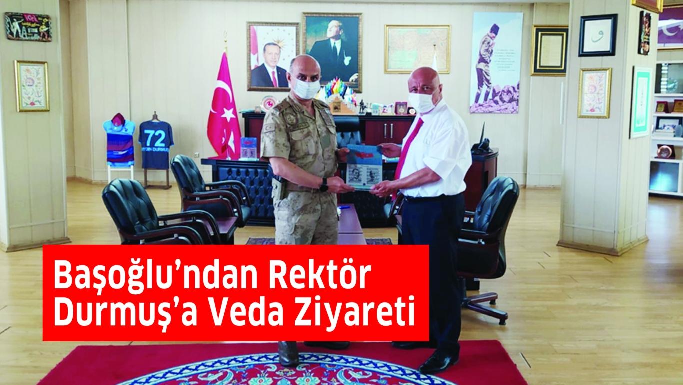 Başoğlu'ndan Rektör Durmuş'a Veda Ziyareti