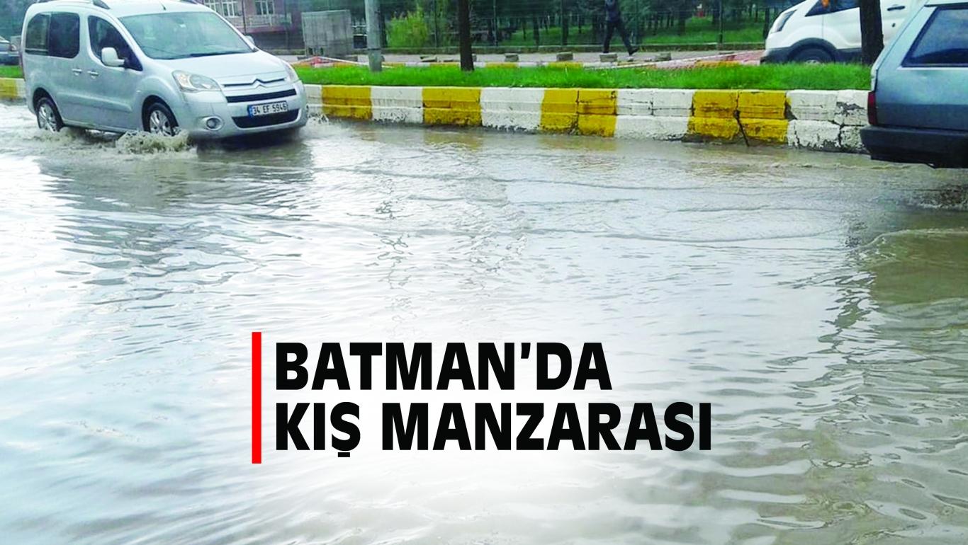 BATMAN'DA KIŞ MANZARASI