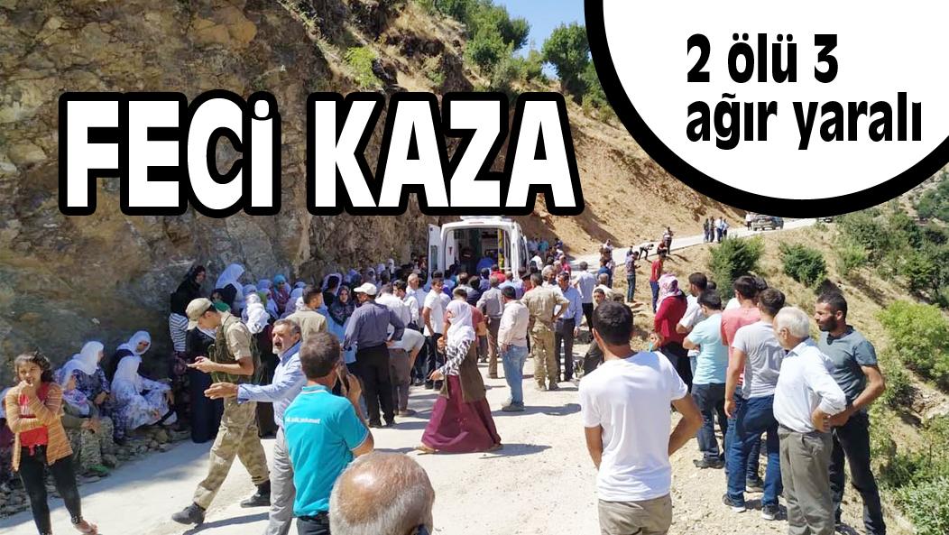 FECi KAZA 2 ölü 3 ağır yaralı