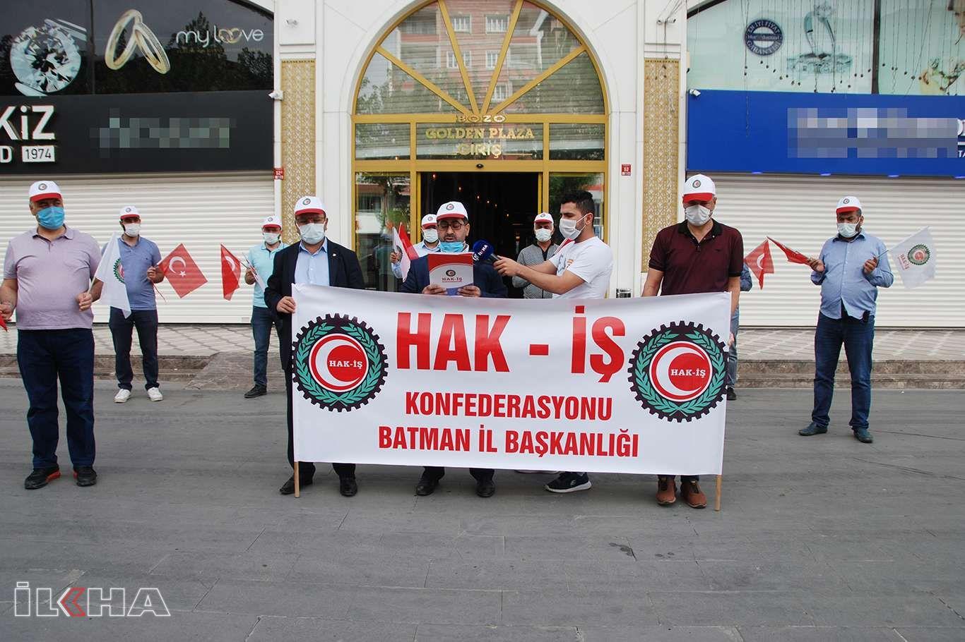HAK-İŞ Batman İl Temsilciliği'nden 1 Mayıs açıklaması: Taşeron işçiler kadroya alınmalı