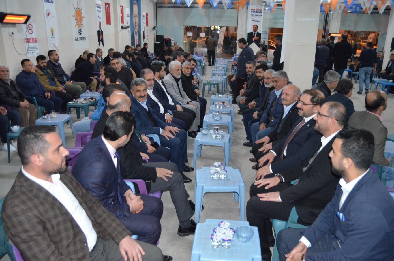 HÜDA PAR'dan AK Parti Seçim Lokaline Ziyaret