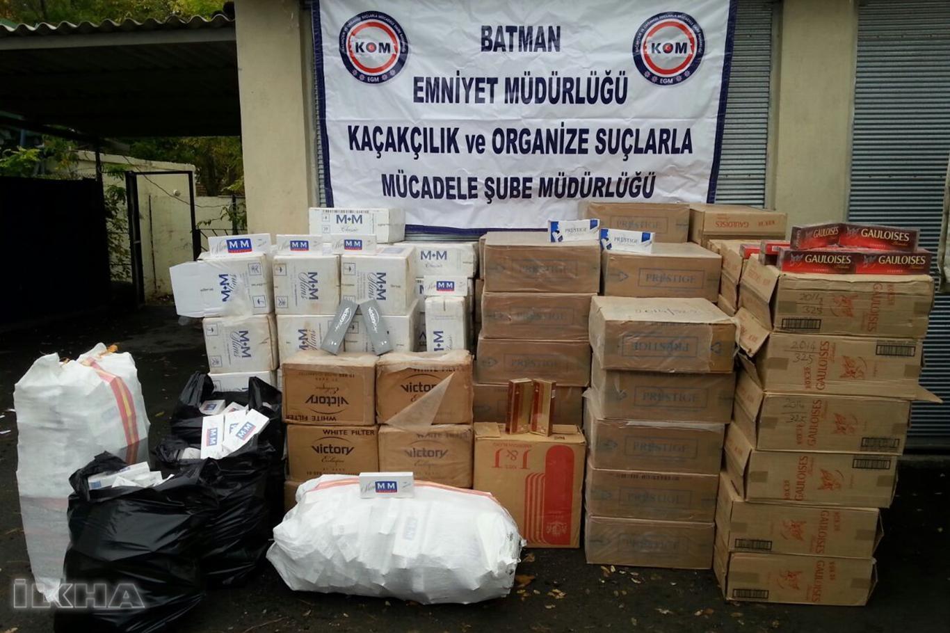 Hurda malzemeleri arasında gizlenmiş kaçak sigara ele geçirildi