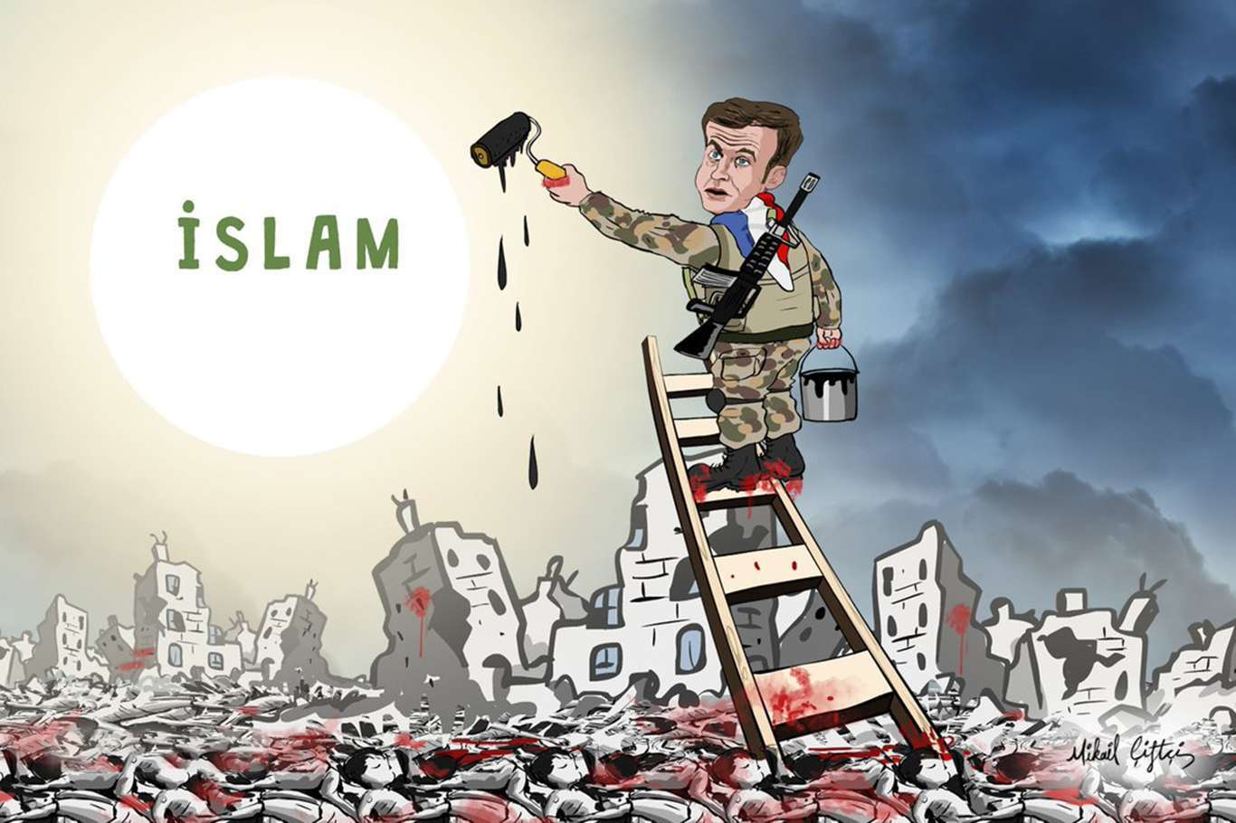 İslam Düşmanı Macron'a Tepkiler Dinmiyor