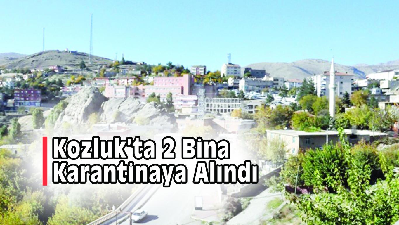Kozluk'ta 2 Bina Karantinaya Alındı