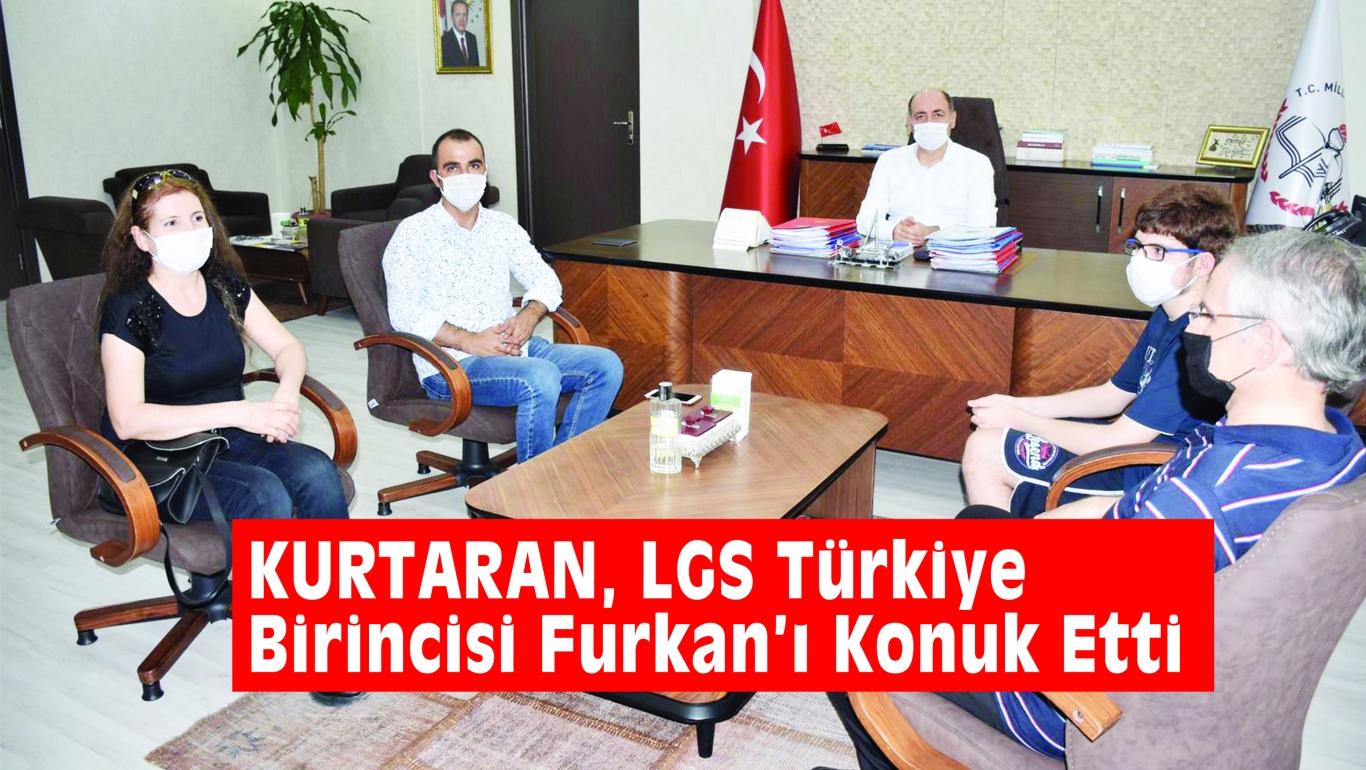KURTARAN, LGS Türkiye Birincisi Furkan'ı Konuk Etti