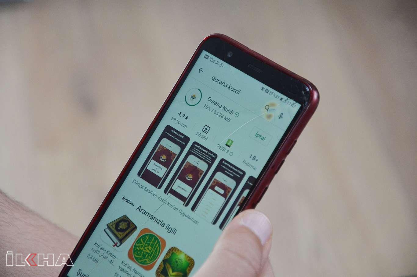 Kürtçe seslendirmeli meal uygulaması Android'de
