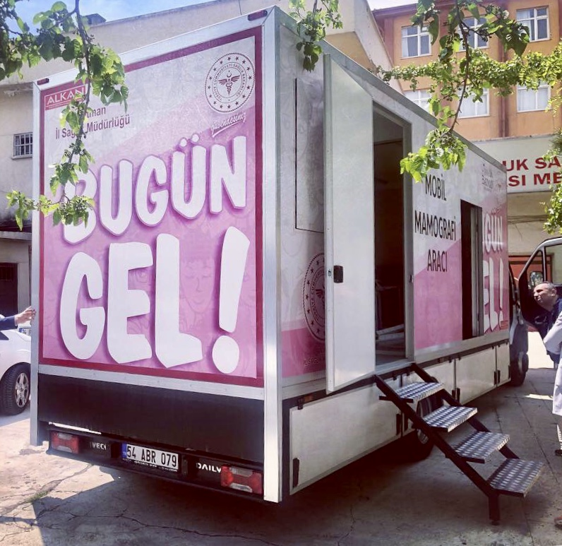MOBİL KANSER TARAMA ARACI HiZMETTE