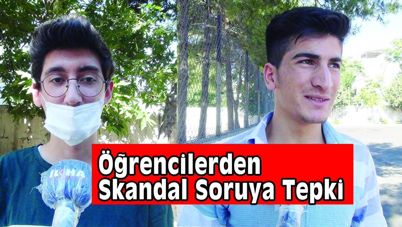 Öğrencilerden Skandal Soruya Tepki