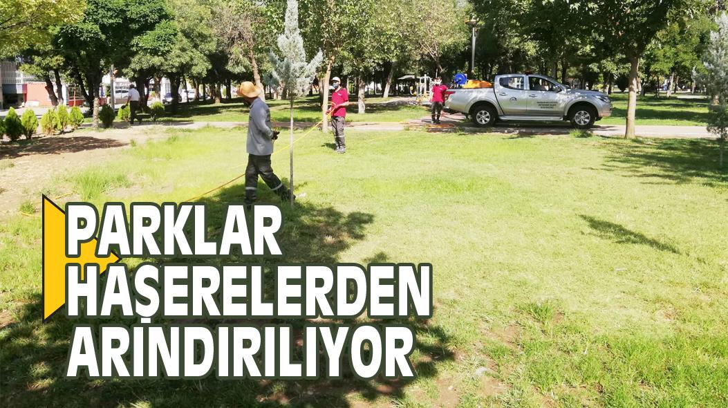 PARKLAR HAŞERELERDEN ARINDIRILIYOR