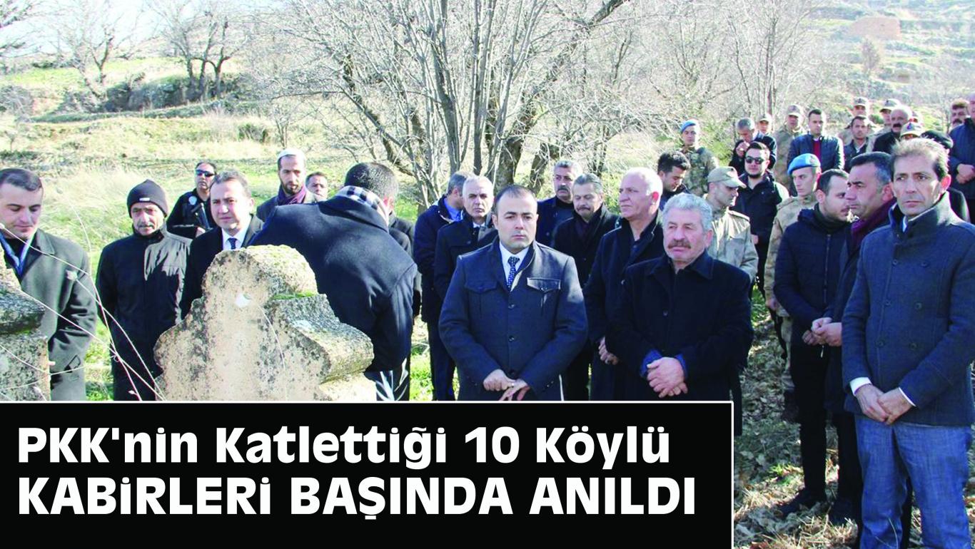PKK'nin Katlettiği 10 Köylü Kabirleri Başında Anıldı