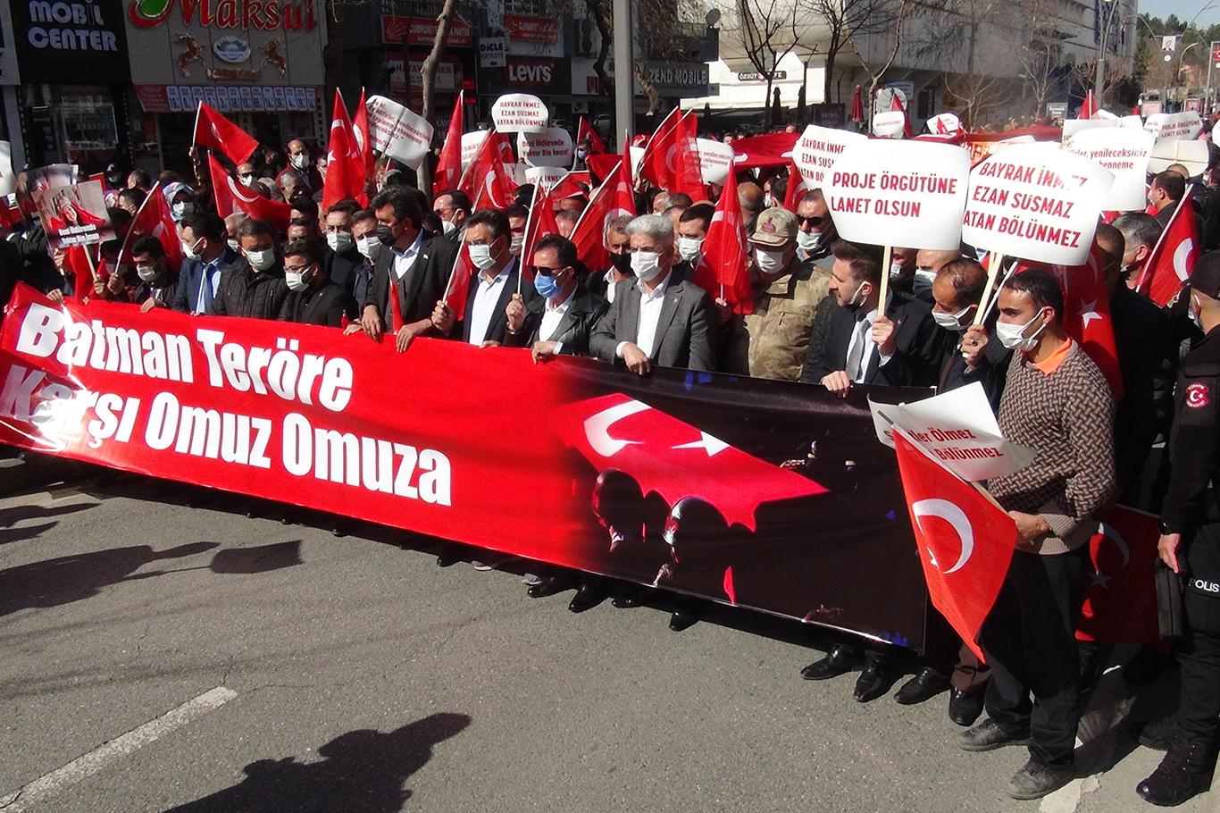 PKK'YE TEPKİ YÜRÜYÜŞÜ