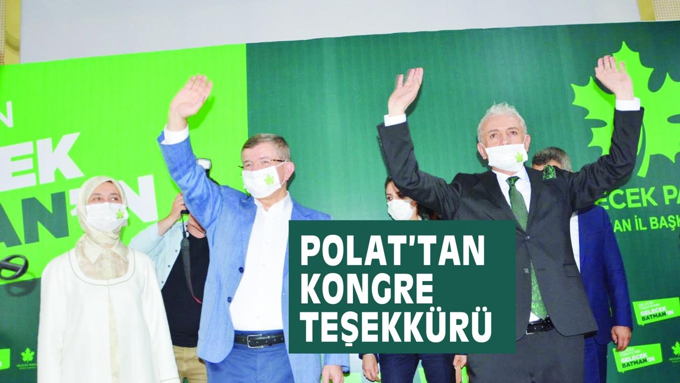 POLAT'TAN KONGRE TEŞEKKÜRÜ
