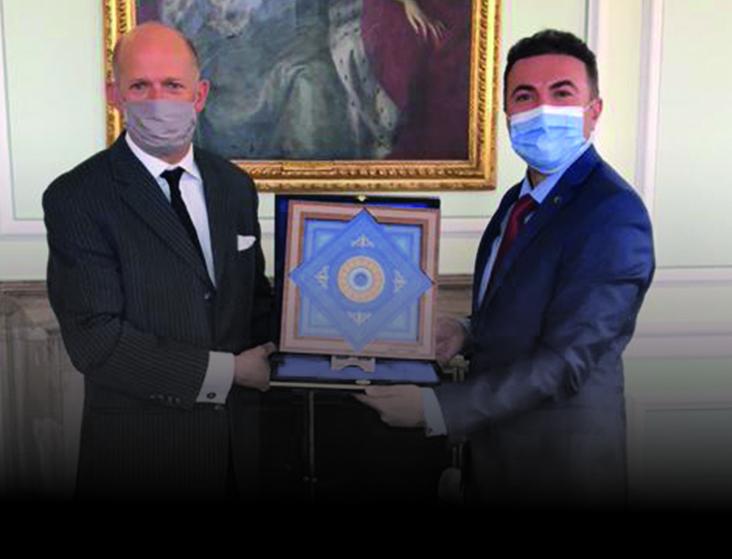 Rektör Demir, İngiltere Ankara Büyükelçisini Ziyaret Etti