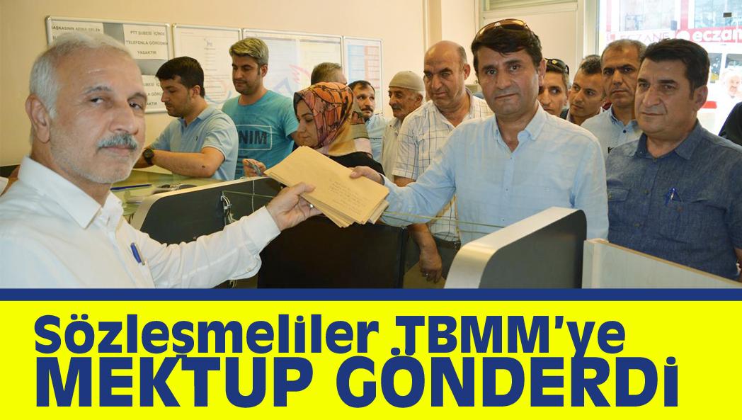 Sözleşmeliler TBMM'ye Mektup Gönderdi