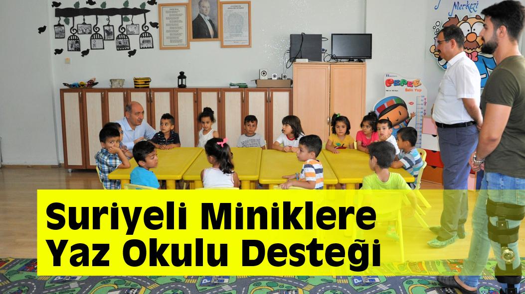 Suriyeli Miniklere Yaz Okulu Desteği