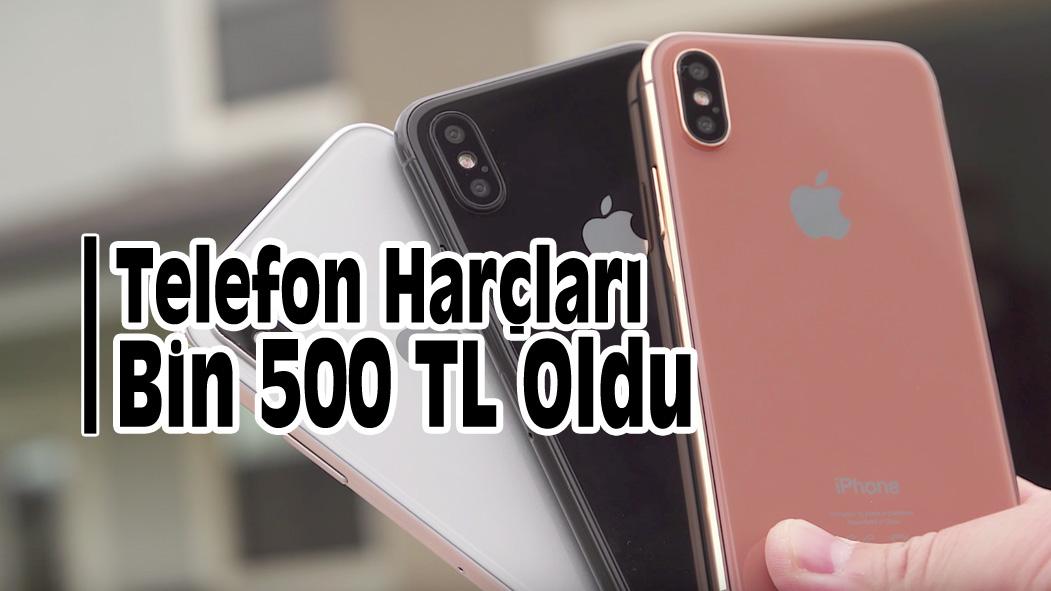Telefon Harçları Bin 500 TL Oldu