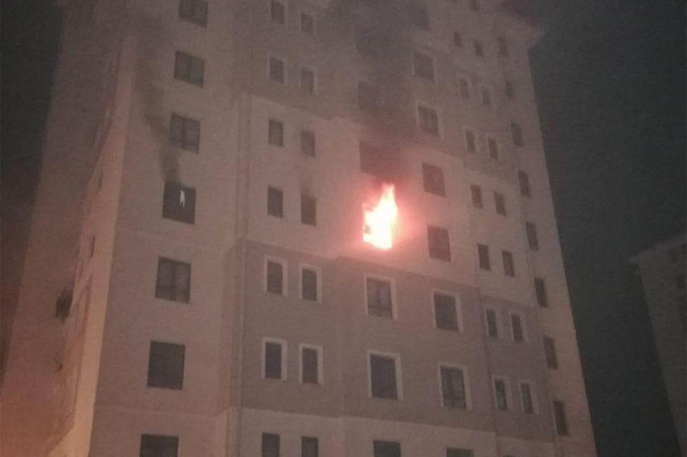TOKİ'de Yangın Paniği