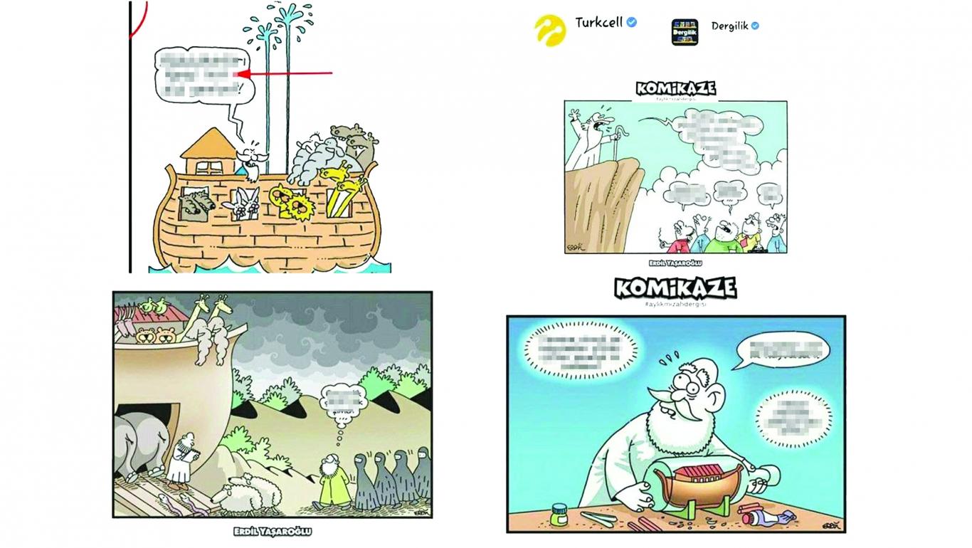 Turkcell'e karikatür rezaleti tepkisi: Ahlaksızca ve edepsizce