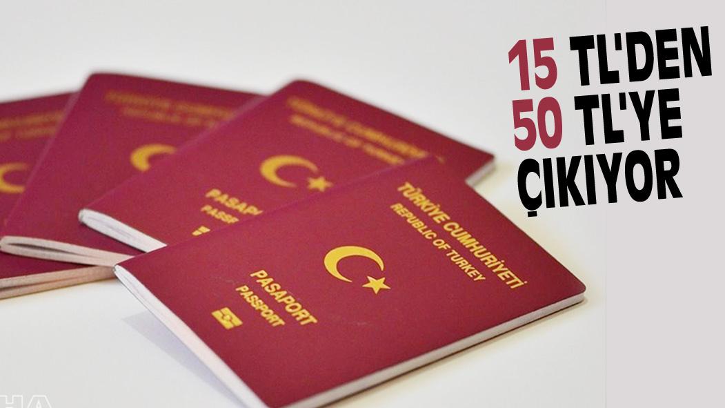 YURT DIŞI ÇIKIŞ HARCI 15 TL'DEN 50 TL'YE ÇIKIYOR