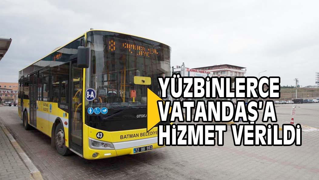 YÜZBiNLERCE VATANDAŞ'A HiZMET VERiLDi